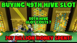 49th HIVE SLOT PURCHASED!!! Roblox Bee Swarm Simulator