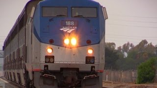 NEW CAMERA !!! CANON XA20 - Amtrak Trains in Irvine, CA (July 21st, 2013)