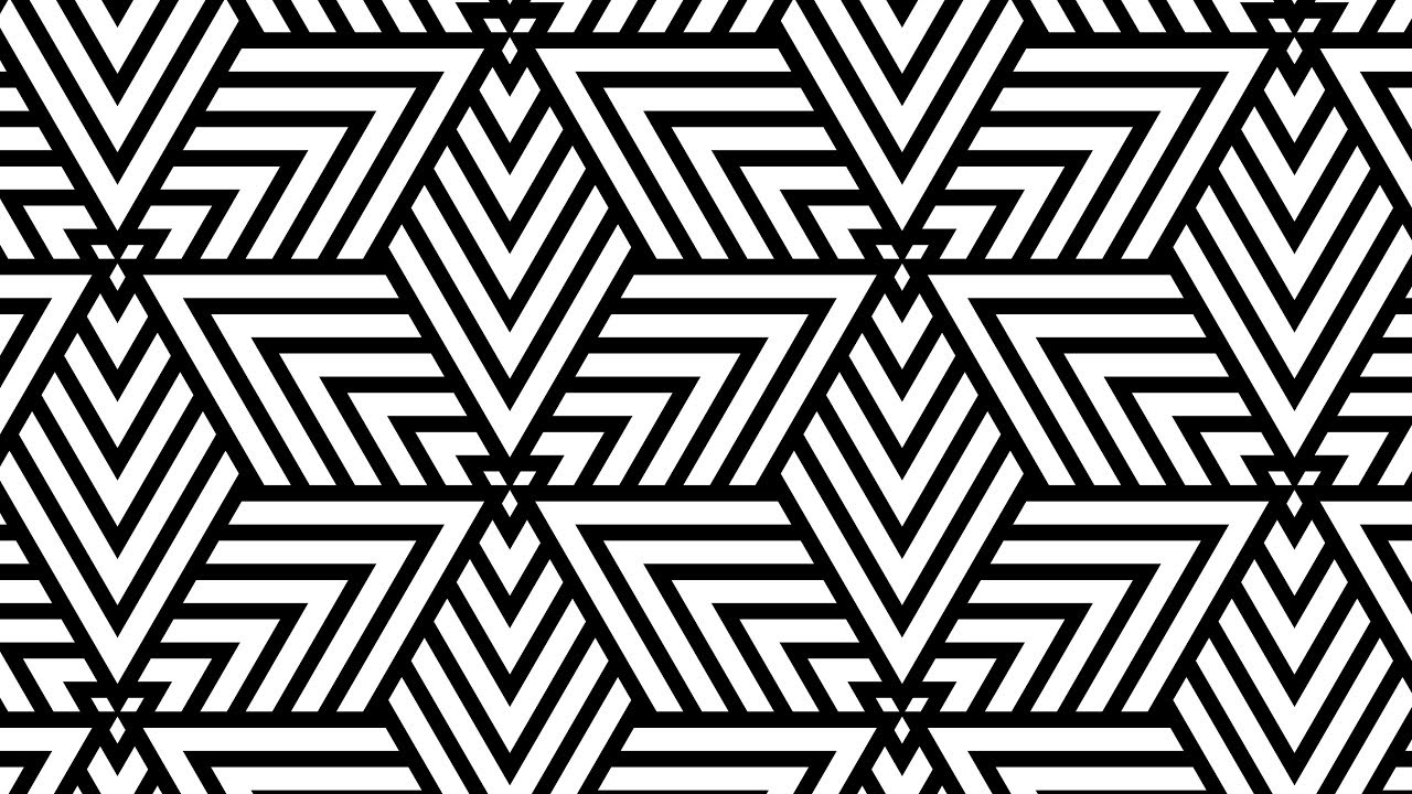 Design Patterns Geometric Black And White Corel Draw Tutorials 015