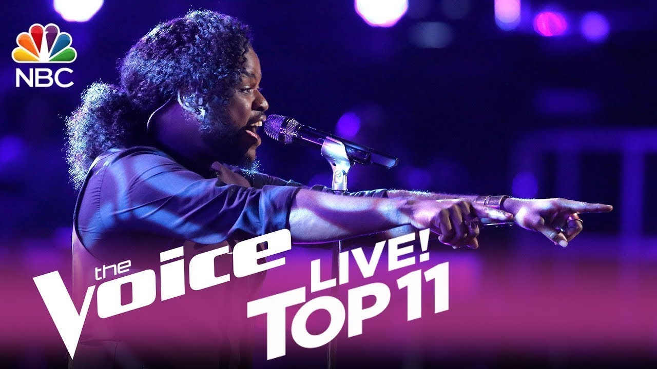 """Download The Voice 2017 Davon Fleming - Top 11: """"I Have Nothing"""""""