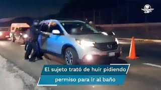 Los hechos ocurrieron la noche del sábado cuando los encargados del operativo pidieron al conductor de la camioneta Honda realizar la prueba de alcoholemia, debido a su conducta extraña y que parecía estar bajo los efectos del alcohol