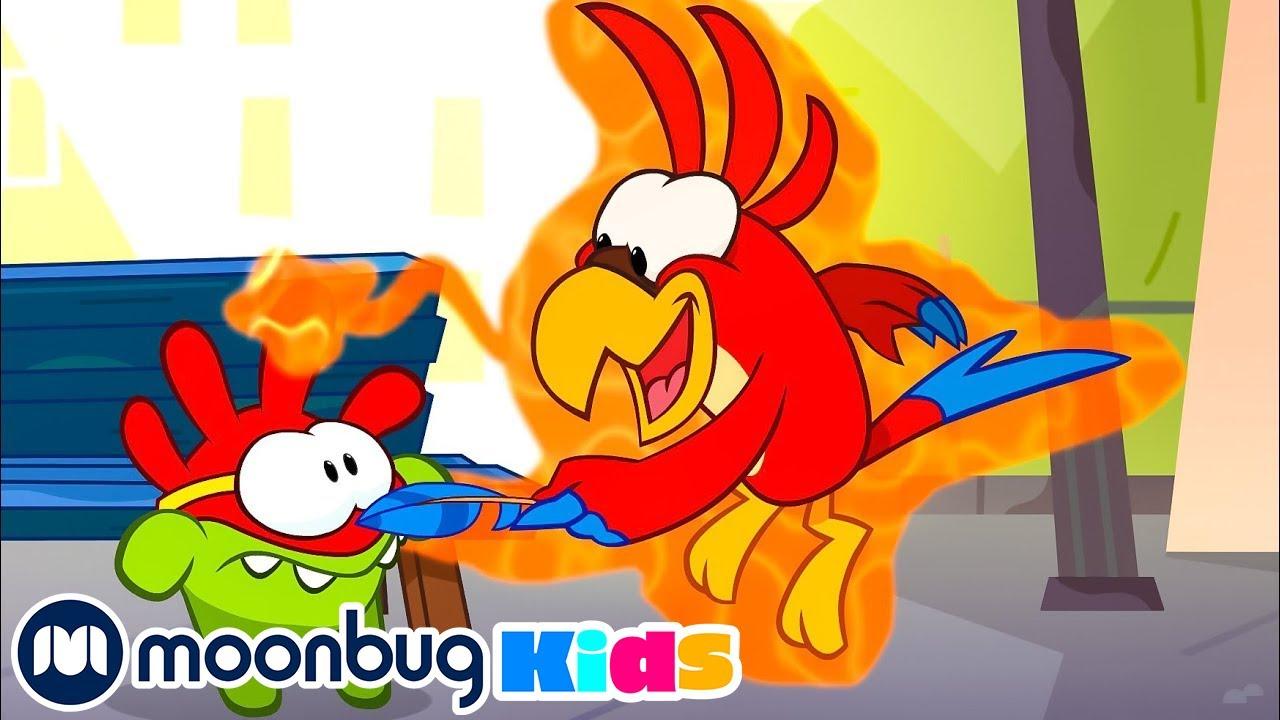 Om Nom Stories - Super-Noms: Parrot Prank   Cut The Rope   Funny Cartoons for Kids & Babies