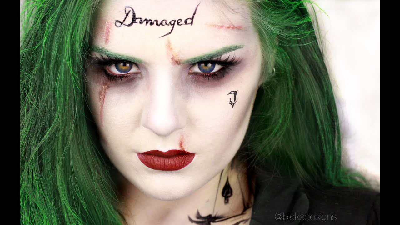 The Joker (Female Version) - Suicide Squad Jared Leto || Makeup Tutorial || - YouTube