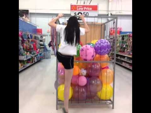Jumping In Walmart Ball Pit - YouTube