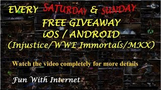 (Closed) #1 (FREE GIVEAWAY EVERY WEEK) INJUSTICE/WWE IMMORTALS/MORTAL KOMBAT X (iOS/ANDROID)