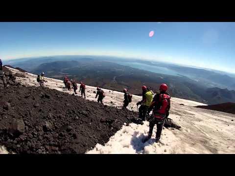 GOPRO HD Sliding down Villarica Volcano and Santiago, Chile