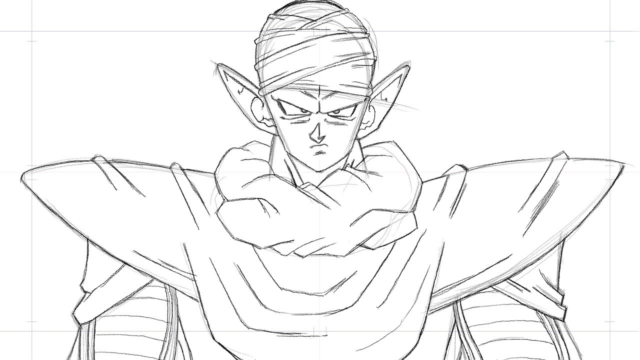 Comment dessiner piccolo dragon ball z youtube - Dessiner dragon ...