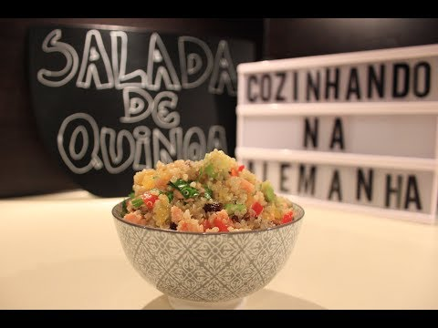 Salada de Quinoa com Salmão defumado  | Cozinhando na Alemanha | Batatolandia