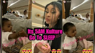 Cardi B Tries To Get aby Kulture To SLEE But She (R)EFUSES