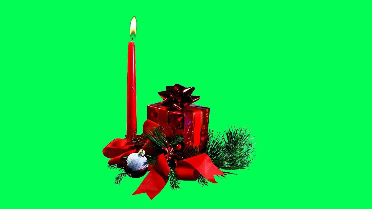 Green Screen- Christmas candles - Velas de Navidad 6º HD ...