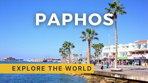 🇨🇾 Walking in PAPHOS 4K, Cyprus