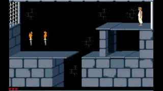 Prince of Persia 1 (2D) Niveau 1 + actuce comment jouer a un vieux jeu dans la description !