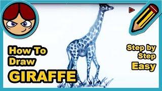 ► Como dibujar una JIRAFA facil paso a paso ▬ How to draw a GIRAFFE step by step easy