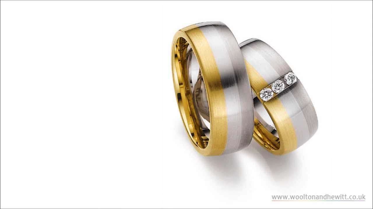 Rainbow Diamond TwoTone Wedding Marriage Rings for Gay Lesbian