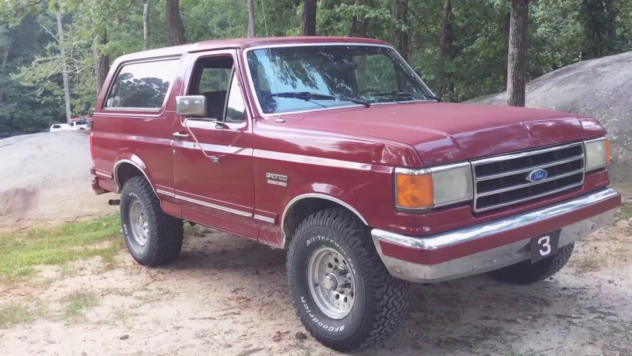1991 ford bronco silver anniversary youtube