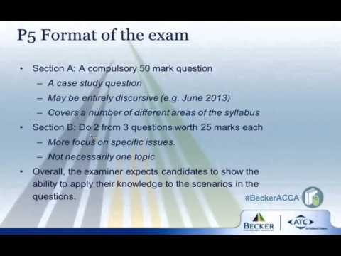 P5 Format of the Exam: ACCA P Papers - Which Options?