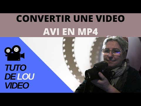 How to convert avi video to mp4
