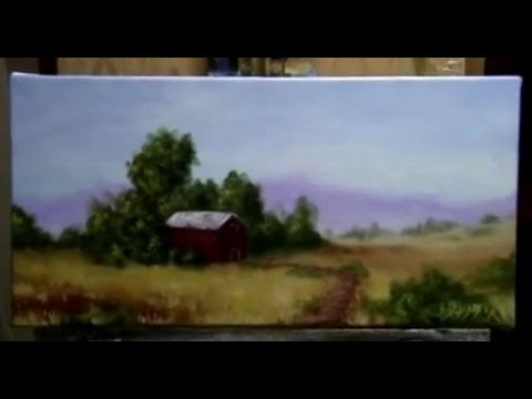 How To Paint A Country Side, Farm Land - Acrylic Painting Le