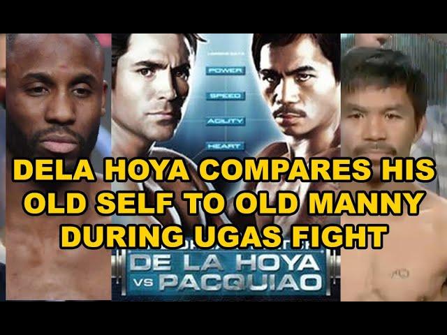 Oscar Dela Hoya compares his age to Manny Pacquiao vs Yordenis Ugas