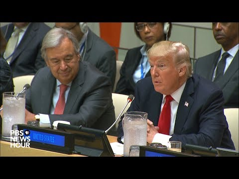 President Trump, Ambassador Haley and Secretary-General Guterres speak at UN reform meeting