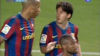 FC Barcelona 3-0 Athletic Bilbao 2009/10(SuperCoopa) Season Messi's First Goal