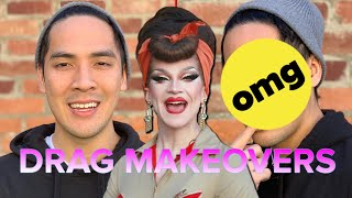 A Drag Queen Gives 1-Minute Makeovers