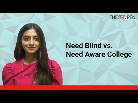 What is the difference between need-blind and need-aware colleges?