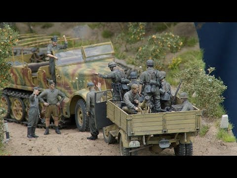 """""""The right of way"""" Italy 1944 diorama in 1/35 scale"""