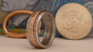Making a spinning ring from a coin and some wire