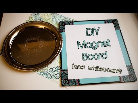 DIY | Dollar Tree Magnet Board and Whiteboard Tutorial | Creation in Between
