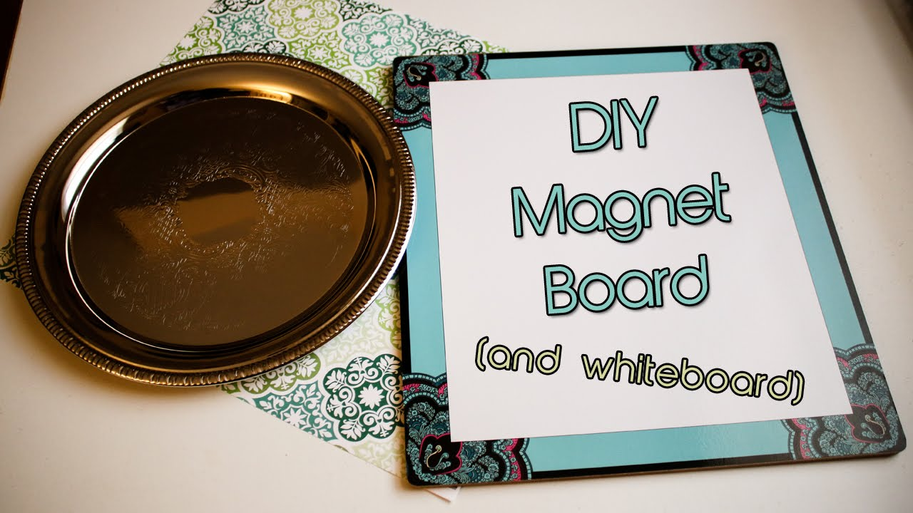 Diy Dollar Tree Magnet Board And Whiteboard Tutorial Creation