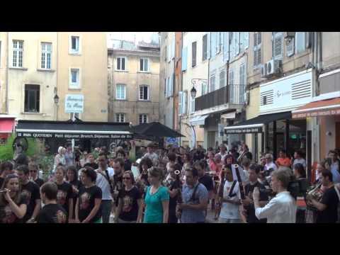 6 août 2013 : Flashmob 'Chevauchée des Walkyries'