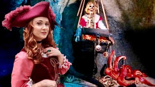 Disneyland UPDATED Pirates Of The Caribbean - NEW Ride Scenes & REDD Character Interaction