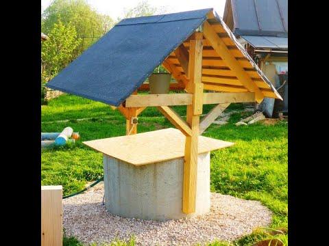 Строим простой и функциональный колодезный домик