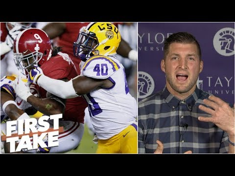 Tim Tebow amped up over Alabama vs. LSU, CFB Playoff Rankings | First Take
