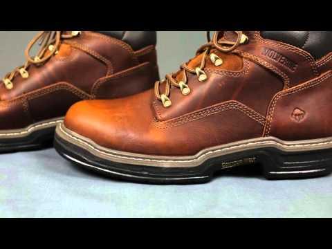 Wolverine 2421 Brown Multishox Raider Contour Welt Work Boots
