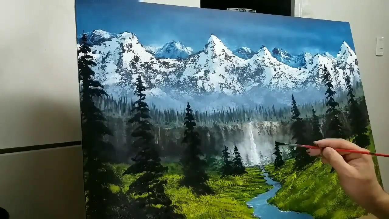 Como Pintar Un Paisaje Facil Para Principiantes En 2 Horas How To Paint A Easy Landscape