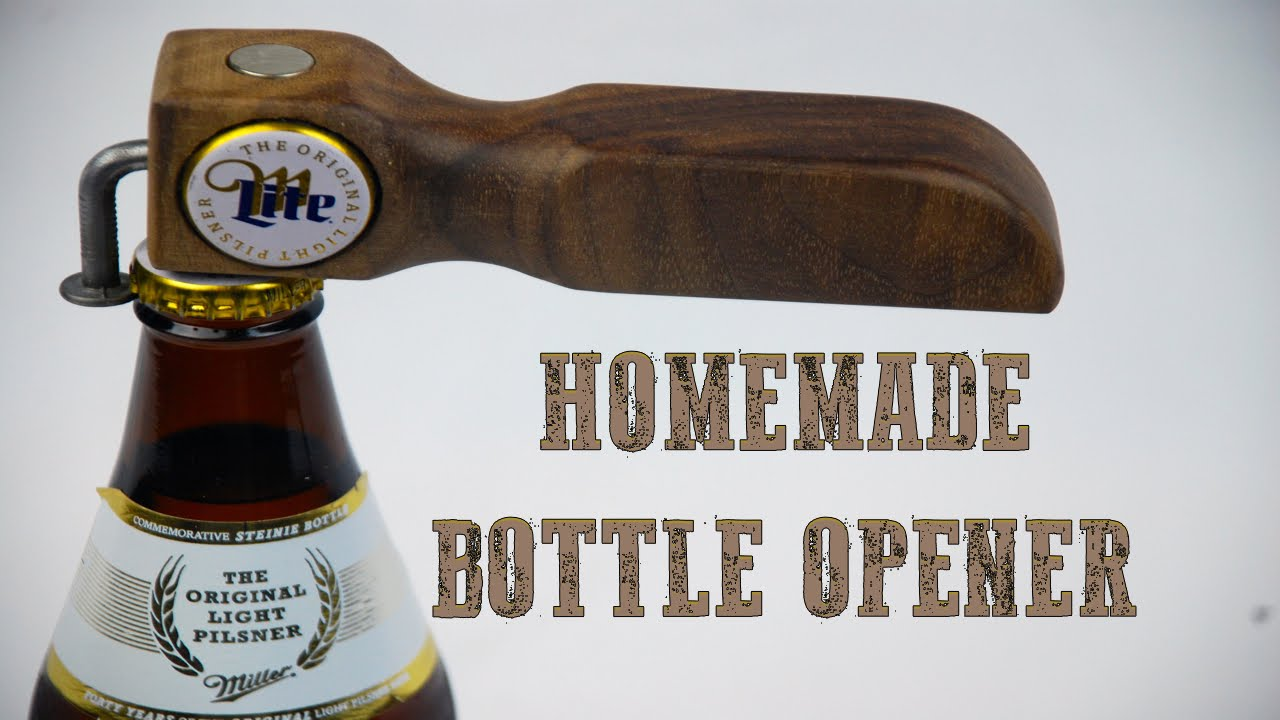 how to make a homemade bottle opener youtube. Black Bedroom Furniture Sets. Home Design Ideas