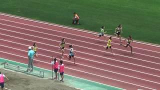 H29 千葉県 中学通信陸上 1年女子100m 準決勝1組