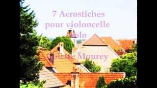 7 Acrostiches cello solo Colette Mourey