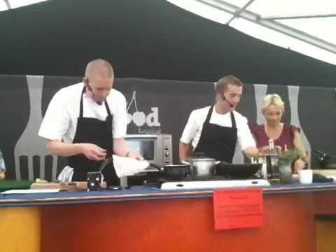 Alan Murchison and Will Holland at Ludlow Food Festival