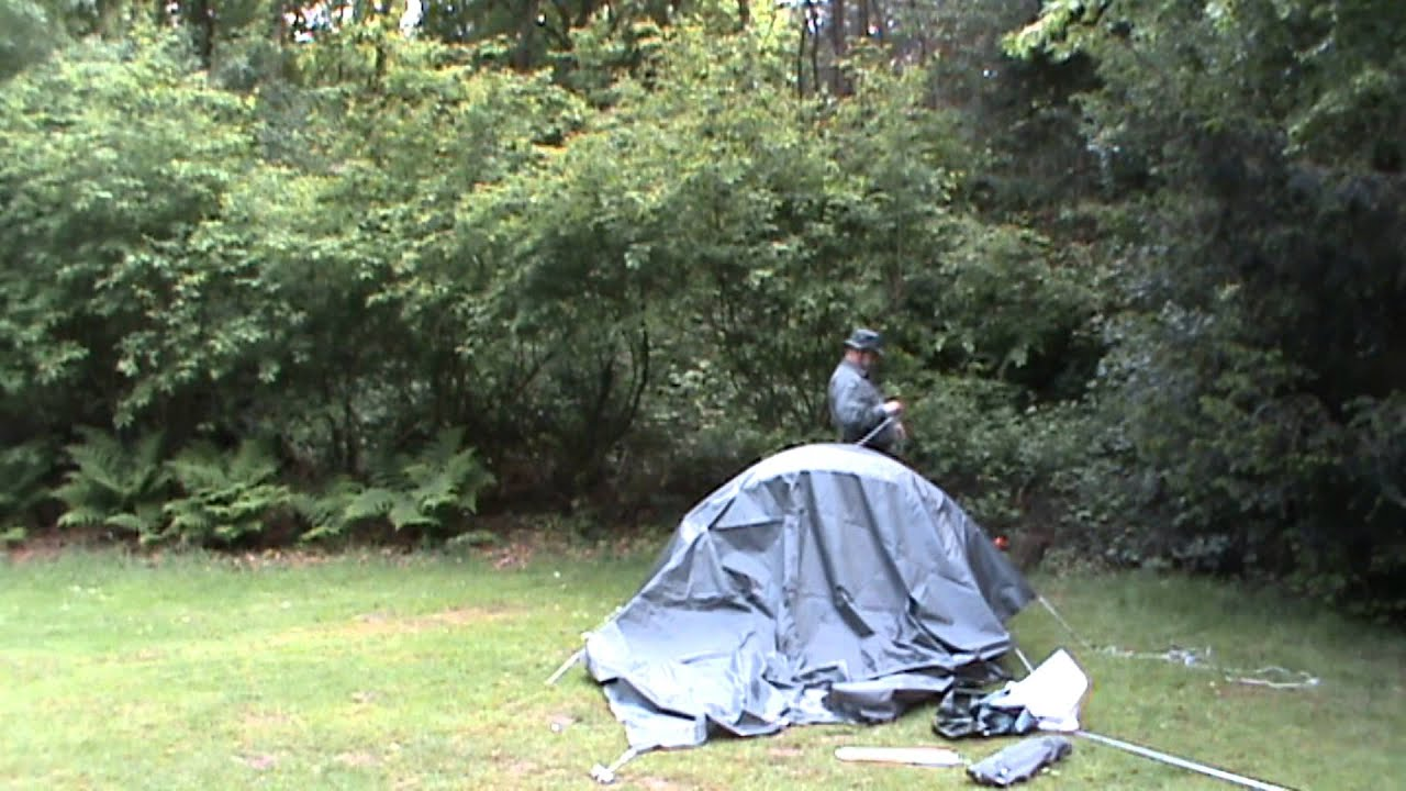 & Decathlon 2 seconds tent and new tarp - YouTube