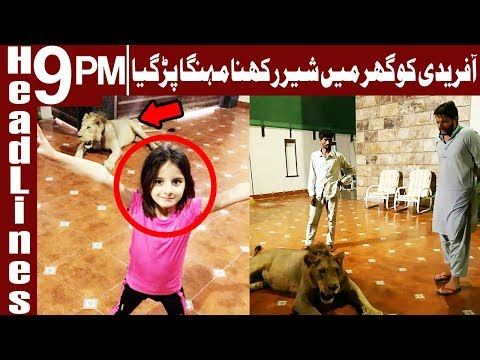 Drop scene of Afridi's photos with Lion - Headlines & Bulletin 9 PM - 15 June 2018 - Express News