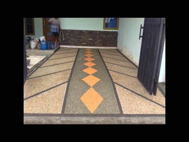 Desain Lantai Garasi Rumah Minimalis  desain lantai carport rumah minimalis kumpulan desain