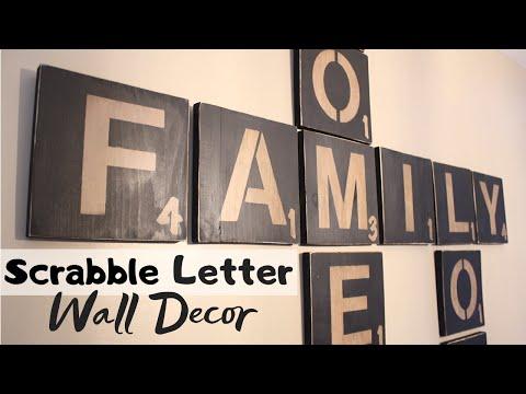 DIY SCRABBLE LETTERS - WALL ART | Craft Adventures