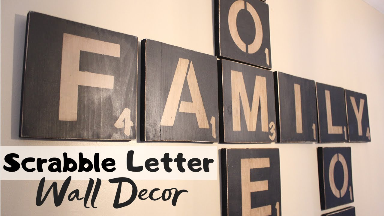 Diy Scrabble Letters Wall Art Craft