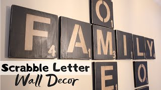 DIY SCRABBLE LETTERS - WALL ART | Craft Adventures