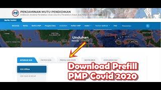 Cara Download Prefill PMP EDS 2020