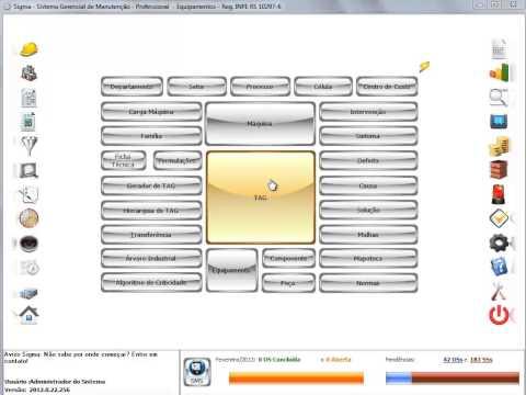 Aula 1 - Video 7 - Sigma Software de Manutenção - Máquina, Tag e Equipamento