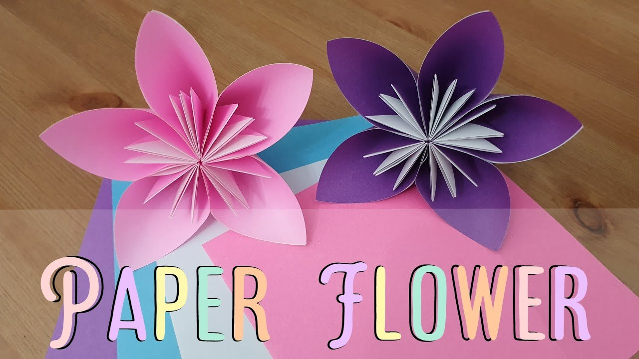 Easy Paper Flower || Paper Craft وردة بالورق